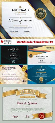 Vectors - Certificate Templates 39