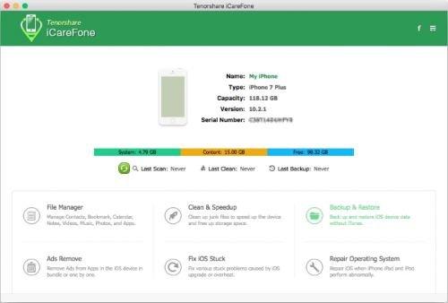 Tenorshare iCareFone 4.0.0.0 Mac OS X