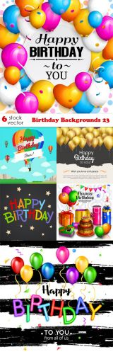 Vectors -- Birthday Backgrounds 23