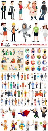 Vectors - People of Different Professions 16