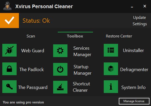 Xvirus Personal Cleaner Pro 3.1.1