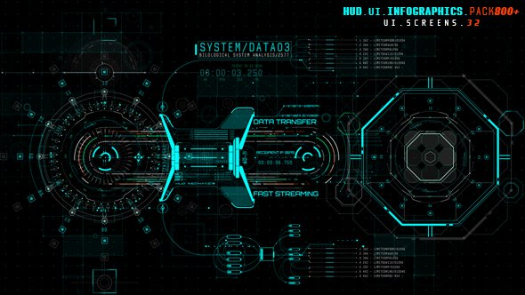 HUD UI Infographics Pack 800+ - Project for After Effects (Videohive)