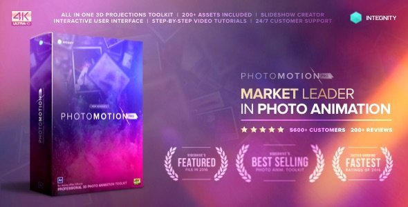 Photo Motion Pro - Professional 3D Photo Animator - Project for After Effects (with 3 February 17 Update) (Videohive)