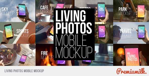 Living Photos Mobile Mockup - Project for After Effects (Videohive)