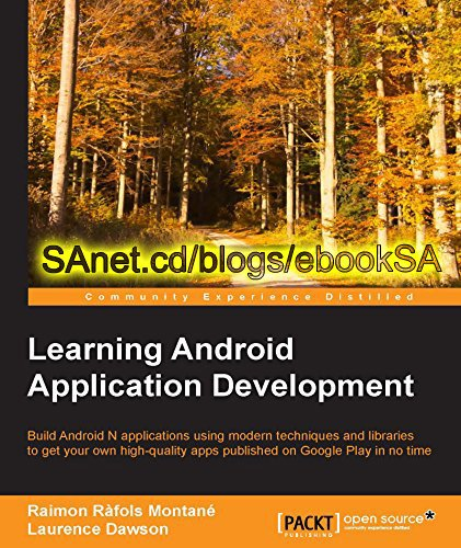 Learning Android Application Development by Raimon Rafols