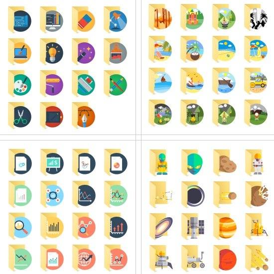 Teorex FolderIco Icon Libraries For Windows Vista, 7, 8, 10