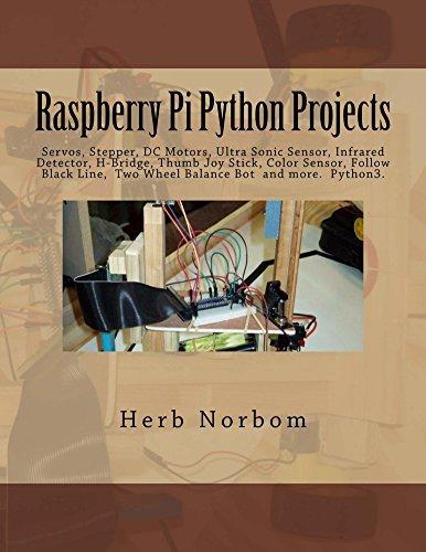 Raspberry Pi Python Projects Pyhton3 TkinterTtk, Clock,Temperature, Tactile, Ultra Sonic & Color Sensor, Servo, Stepper