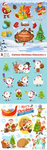 Vectors - Cartoon Christmas Characters 4