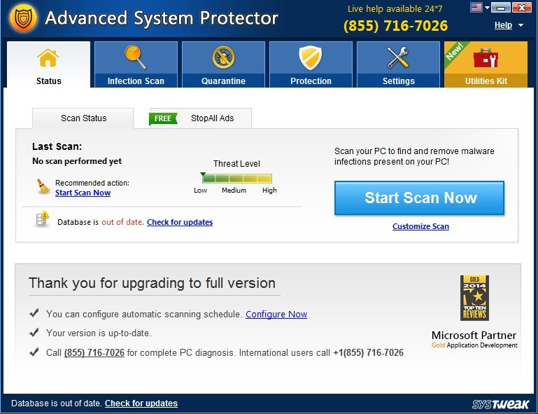 Advanced System Protector 2.2.1000.22750 Multilingual Portable