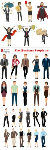 Vectors -- Flat Business People 10