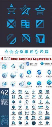 Vectors -- Blue Business Logotypes 2