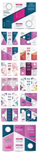 Vector Tri-fold Brochure Template.Corporate business background or cover design