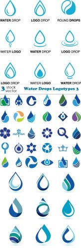 Vectors - Water Drops Logotypes 3