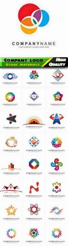 Business corporate logo and company identity badge emblem in vector form stock