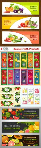 Vectors -- Banners with Products