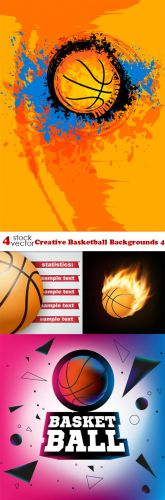 Vectors -- Creative Basketball Backgrounds 4