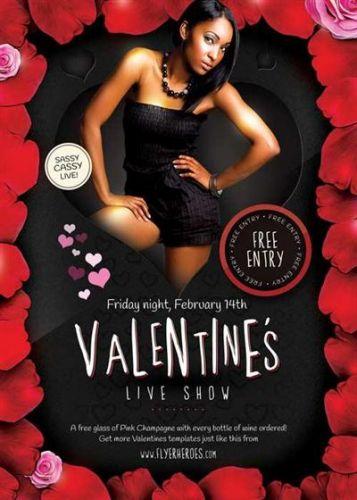 Valentines Live Show V2 Flyer PSD Template