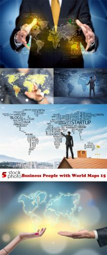 Photos - Business People with World Maps 15