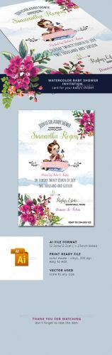 Watercolor Baby Shower Invitation 16816435