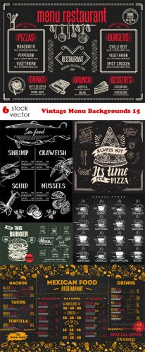 Vectors -- Vintage Menu Backgrounds 15