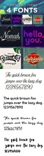 4 Special Fonts Collection