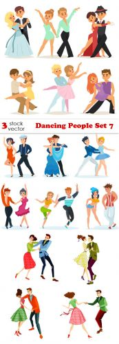 Vectors - Dancing People Set 7