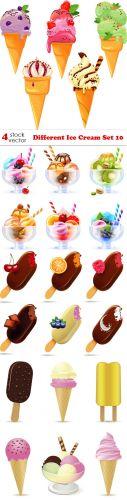 Vectors -- Different Ice Cream Set 10