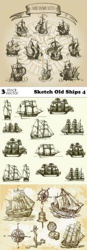 Vectors - Sketch Old Ships 4