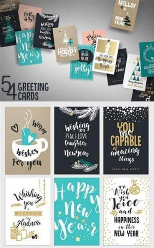 CreativeMarket - New Year's Greeting Cards