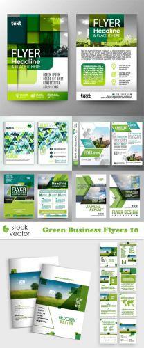Vectors -- Green Business Flyers 10