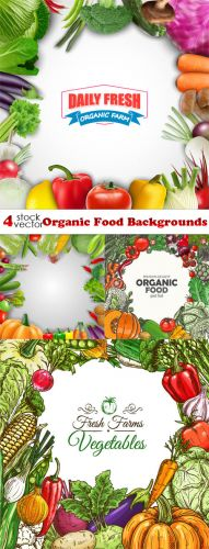 Vectors -- Organic Food Backgrounds