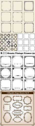 Vectors - Ornate Vintage Frames 33