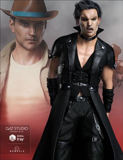 FWSA Vampire Expansion and Hunter Kit for Genesis 3 Male(s) Daz3D
