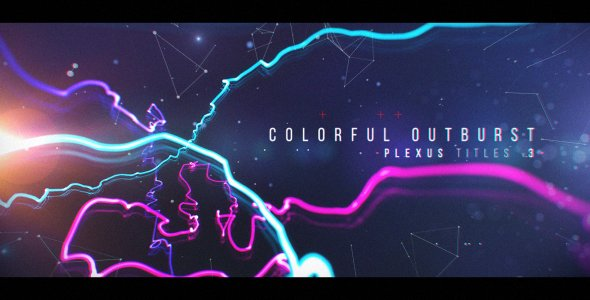 Plexus Titles 3 (Colorful Outburst) - Project for After Effects (Videohive)
