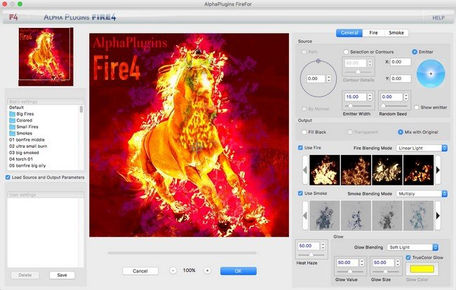 AlphaPlugins FireFor Plug-in for Photoshop 1.0 MacOSX