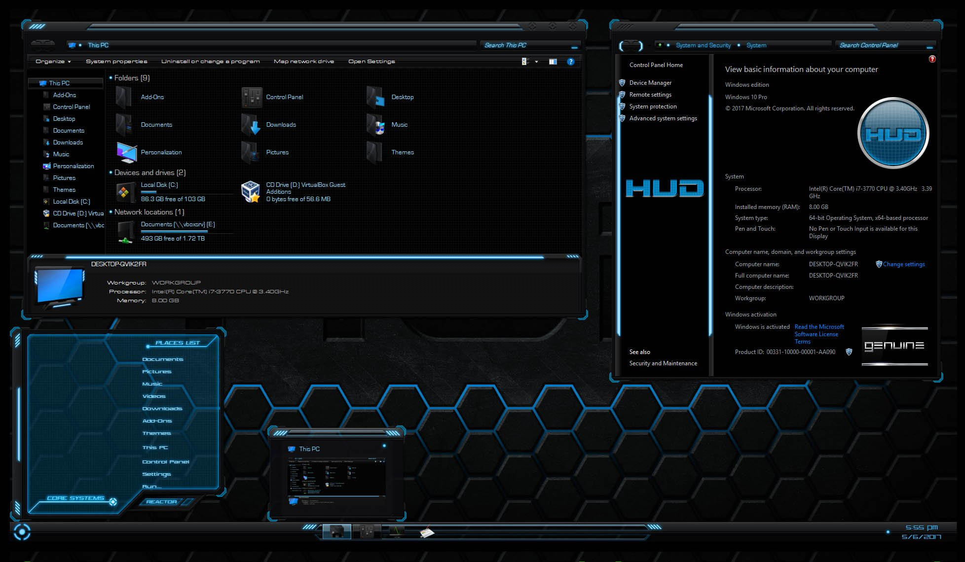 Download HUD Theme Pack 4 Colors Included for Windows 10 Creators