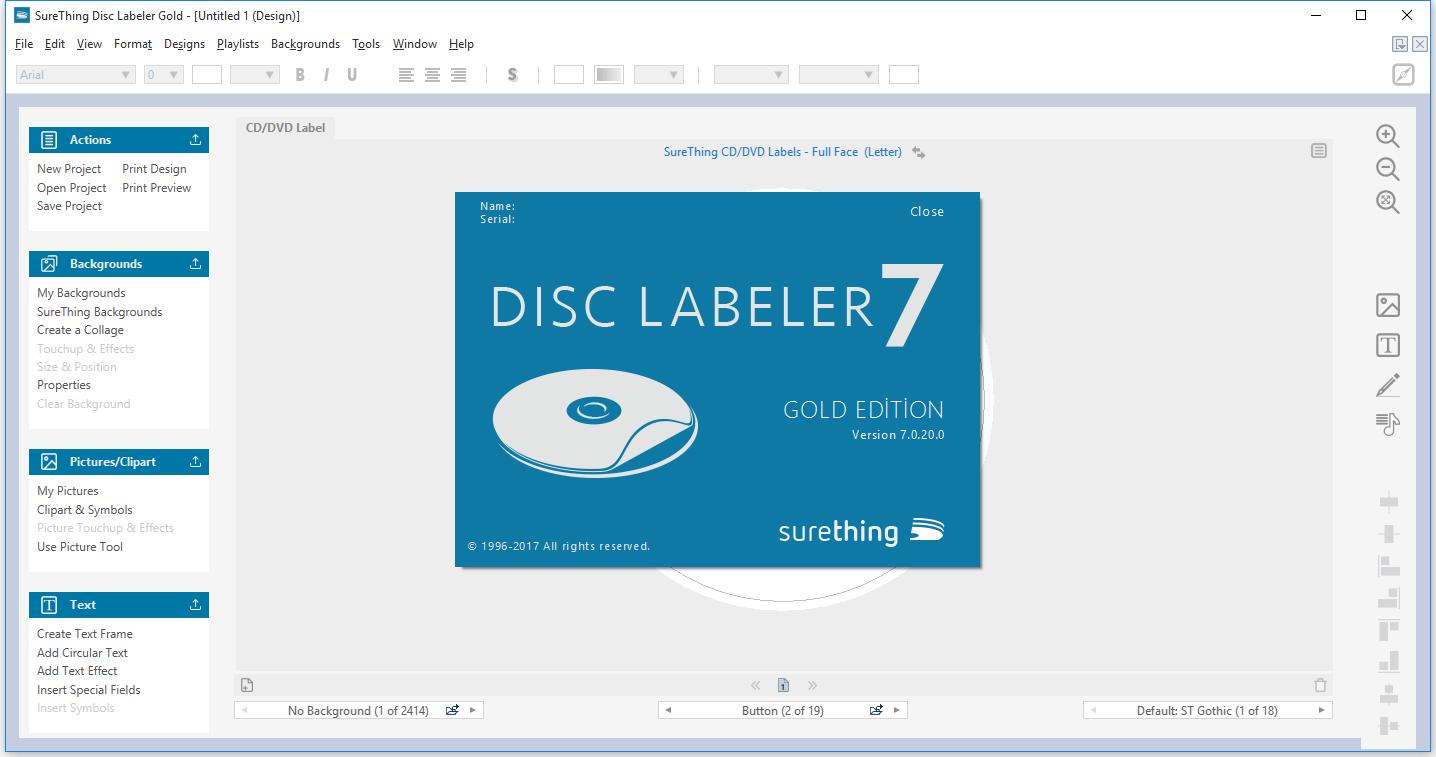 surething cd labeler deluxe 5