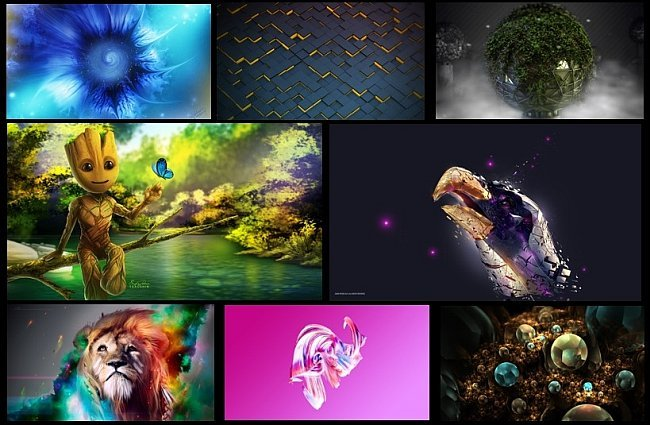 3D & Abstract Wallpaper Collection - 500 Hd Wallpapers
