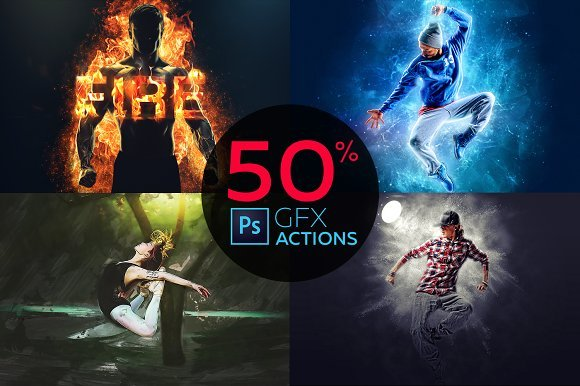 CreativeMarket - Pro Photoshop Actions Bundle
