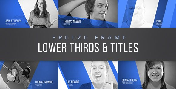 Freeze Frame Lower Thirds - Project for After Effects (Videohive)