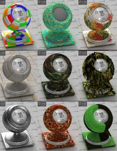 Vray 3D-materials 2017 (V-Ray, mat) - part 7