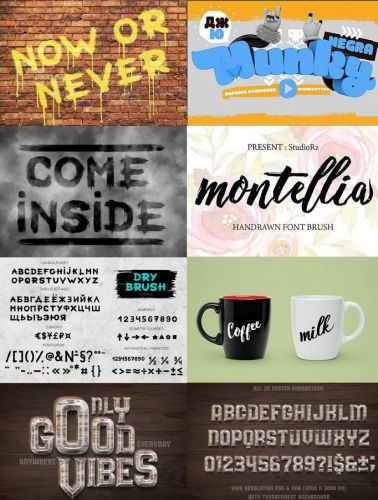 Fonts Family CreativeMarket - Big Pack 45