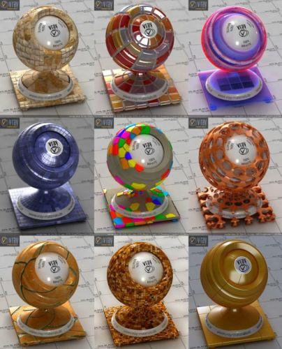 Vray 3D-materials 2017 (V-Ray, mat) - part 6