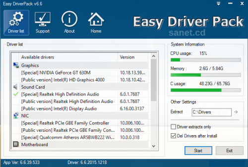 Easy DriverPacks (Wandriver) 6.6.2015 - Fully Configured Driver Kit