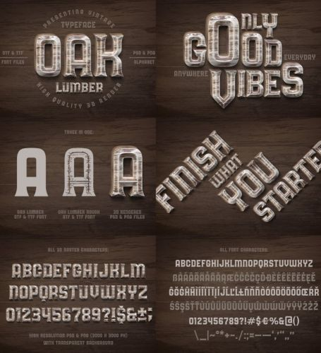 Symbols - Alphabet by Oak Lumber PNG
