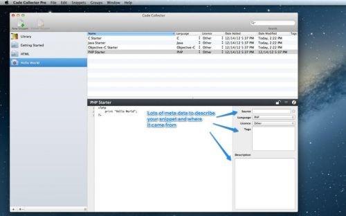 Code Collector Pro 1.7.5 Mac OS X