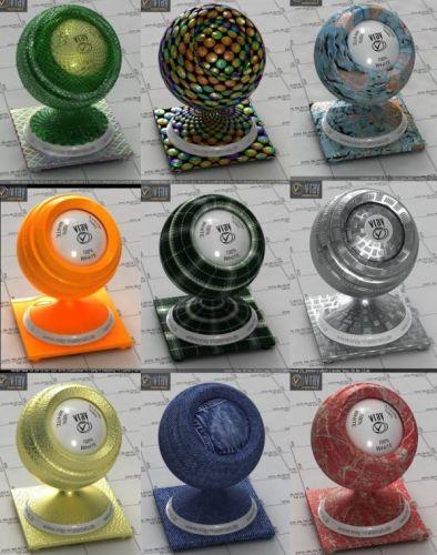 Vray 3D-materials 2017 (V-Ray, mat) - part 5
