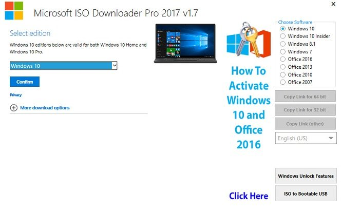 Microsoft ISO Downloader Pro 1.7 Multilingual