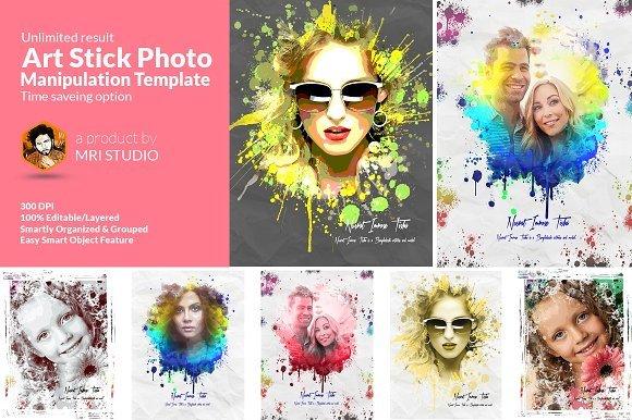 CreativeMarket -- Artistic Photo Manipulation Template