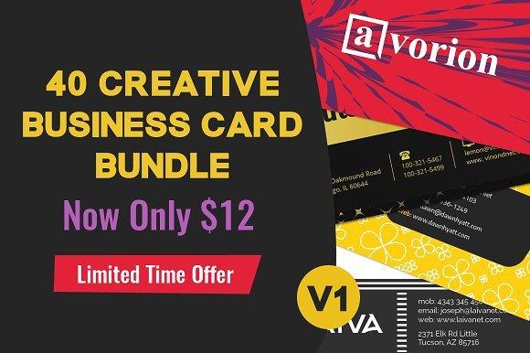 CreativeMarket -- 40 Business Card Bundle